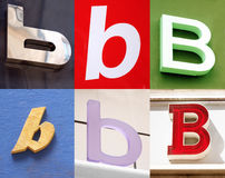 B letter - Urban collection. B letter - the Urban collection stock photos