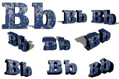 B letter on a white background Royalty Free Stock Images
