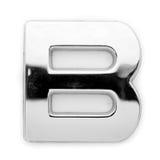 B - Lettera del metallo Fotografie Stock