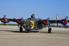 B-24 Liberator WWII veteran aircraft Stock Images