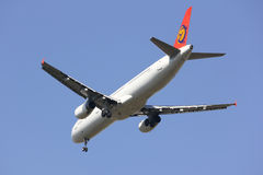 B-22605 luchtbus A321-100 van Transasia-luchtroutes stock afbeelding