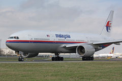 B777 Malaysia Airlines Obraz Stock