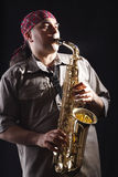 B man sax Stock Photos