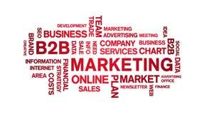 B2B Marketing Animated Tag Word Cloud,Text Design Animation seamless loop.