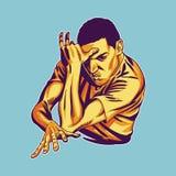 B-menino na pose dinâmica ilustração royalty free