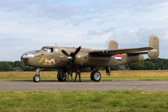 World War II Allied B-25 Mitchell bomber Stock Images