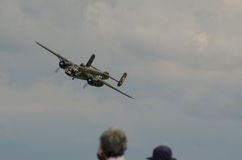 B-25 Mitchell WWII bomber fly-by Royalty Free Stock Photo