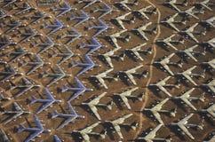 B-52航空器,戴维斯Montham波普空军基地,图森,亚利桑那的领域 免版税库存照片
