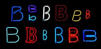 B-Neon-Zeichen Stockbild
