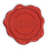 Bônus do selo da cera (trajeto de grampeamento incluído) Fotos de Stock Royalty Free