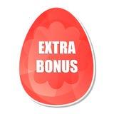 Bônus extra da Páscoa no ovo da páscoa com flores ilustração stock