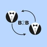 B2b pictogramvector Royalty-vrije Stock Afbeelding