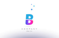 b pink blue white modern alphabet letter logo icon template royalty free illustration