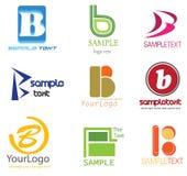 b pisze list loga Zdjęcie Stock