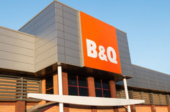 B&Q sign and shopfront Royalty Free Stock Photography