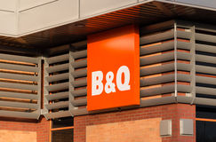 B&Q sign and shopfront Stock Photography