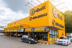 B-Quick Store popular car garage service in Thailand stock photo