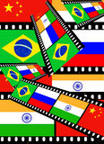 B R I C. In economics and financial markets, BRIC is a synonym refering to Brazil, Russia, India and China, It is typically called as the BRICs or the BRIC Royalty Free Stock Image