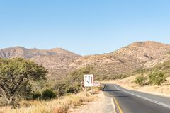 B1-road południe Windhoek Fotografia Royalty Free