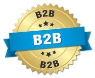B2b badge. B2b round badge with ribbon Royalty Free Stock Image