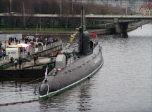 B-143 Russian submarine Stock Images