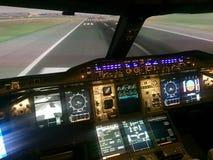 B747 simulator stock foto