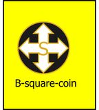 B-square-coin cryptocurrency logo Stock Photography