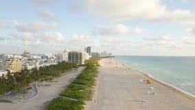 B?sta sikt av den s?dra stranden Miami surrsikt lager videofilmer