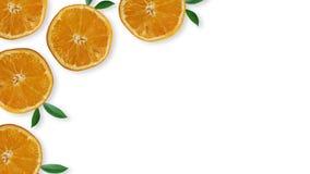 B?sta sikt av nya citronskivor arkivbild