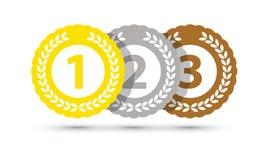 B?sta tre medaljer royaltyfri illustrationer