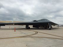 B2 Stealth Bomber. B2 sitting on the runway at the whiteman air force base Stock Photo