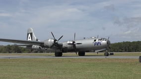 B-29 super Vestingsbommenwerper stock video