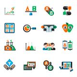 A-b Testing Icons Set Royalty Free Stock Photography