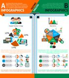 A-b Testing Infographics Set Royalty Free Stock Photos