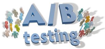 A B Testing marketing experiment Stock Photos