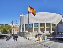 B?timent espagnol de s?nat Madrid, Espagne images libres de droits
