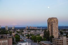 B?timents r?sidentiels dans Burnaby, Vancouver images stock