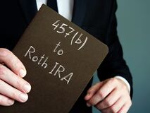 457b to Roth IRA phrase on the piece of paper