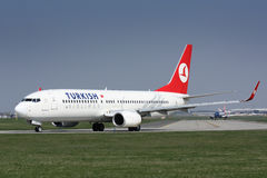 B737-800 Turkish Airlines Royalty Free Stock Photography