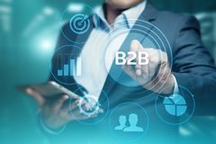 B2B-Unternehmens-Handels-Technologie-Marketing-Konzept stockbilder