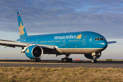 B777 Vietnam Airlines Royalty Free Stock Photo