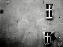 B&W,建筑学,黑白,窗口,上古? 免版税库存照片