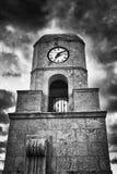 B&W πύργος ρολογιών στο Palm Beach Στοκ Εικόνες