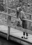 B&W adolescente de pensamiento Imagen de archivo