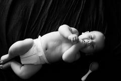 B&W baby Royalty-vrije Stock Afbeelding