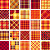 B&W big plaid pattern set Stock Photography