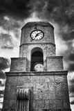 B&W Clock Tower in Palm Beach Stock Images
