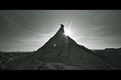 B&W Desert in Bardenas Reales, Navarra Stock Images