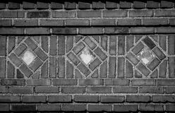 B&W Diamond Brick Patter Royalty-vrije Stock Foto