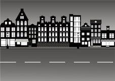 B-w do steet da cidade ilustração stock